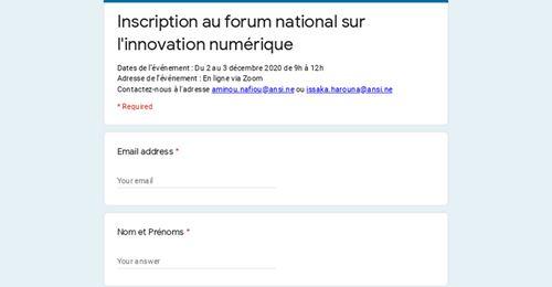 Forum National sur l'Innovation Numérique